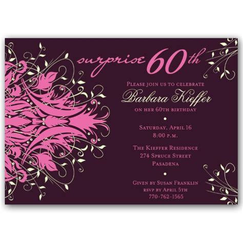 60th Birthday Card Wording Wordings For 60th Birthday Invitation Cards