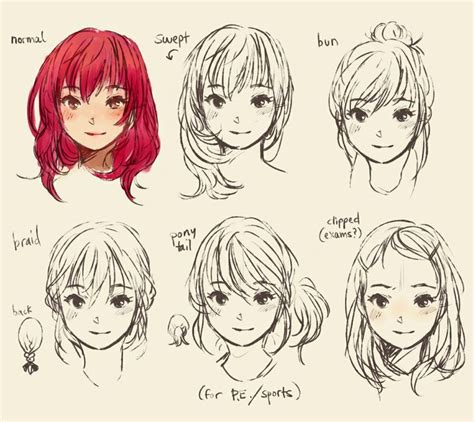 anime hairstyles how to draw how to draw cute manga hair drawing help pinterest