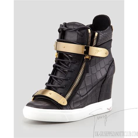 giuseppe zanotti sneaker wedge giuseppe zanotti croc buckled wedge sneakers in