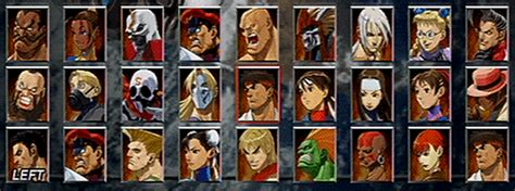from street fighter main character name street fighter ex3 character select screen quiz by jdgm