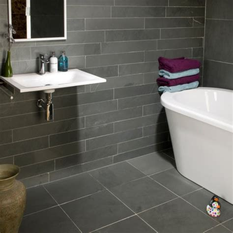 gray floor bathroom grey slate wall tiles wall covers