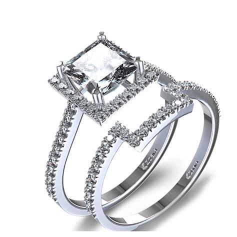 halo ring princess cut halo ring setting