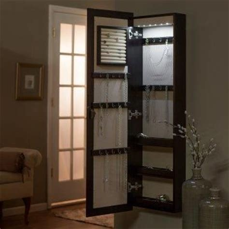 lighted wall mount jewelry armoire belham living lighted wall mount locking jewelry armoire