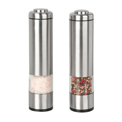 Ceramic Salt And Pepper Shakers Shop Kalorik Stainless Steel Salt And Pepper Grinder Set