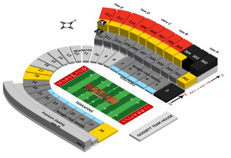 seating charts maryland terrapins athletics university maryland terrapins 2012 football schedule