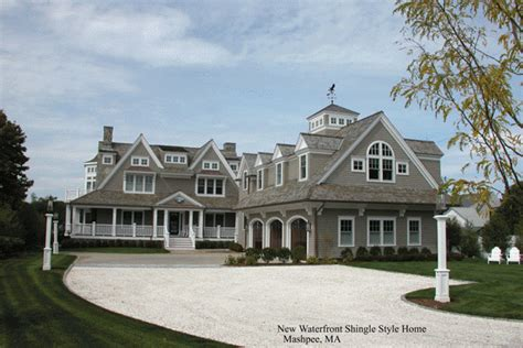 Spanish Colonial Architecture Floor Plans Nantucket Style Home Designs Nantucket Shingle Style Home
