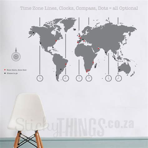 wall sticker map of the world world map decal world map wall stickythings co za
