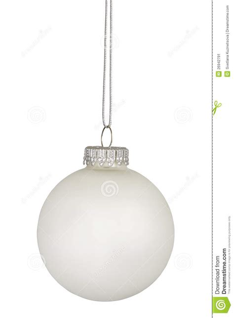 white christmas bauble isolated on white stock image