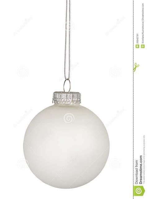 white christmas bauble isolated on white stock image