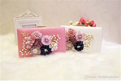 One Shoulder 3d Flower Simple Korean Silk3352 vintage 3d flower evening clutch bag wedding bridal handbag purse wallet pink white pu leather