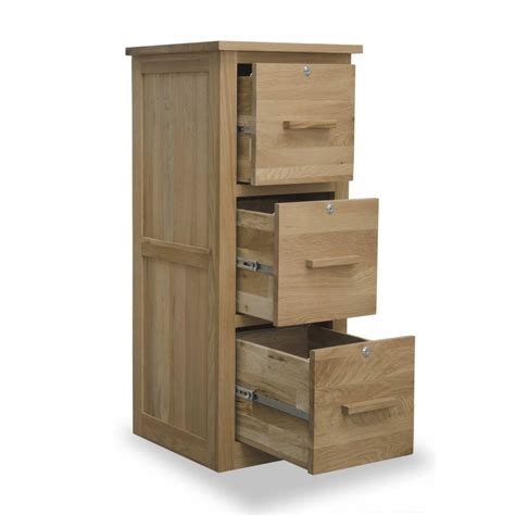 3 drawer cabinet with lock arden solid oak office computer furniture three drawer