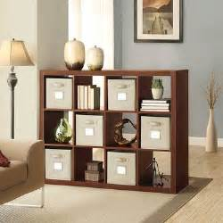 O Nin Room Divider by Bayside Furnishings Roasted Hazelnut 12 Compartment Room