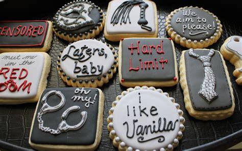 50 shades of grey cookies custom cookies by 4theloveofcookies