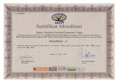 Surat Keterangan Akreditasi Universitas by Contoh Surat Keterangan Akreditasi Dari Ban Pt Contohsurat