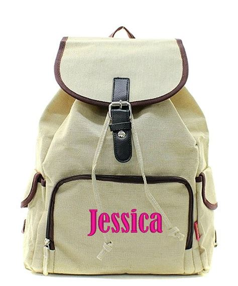 personalized large knapsack backpack book tote bag