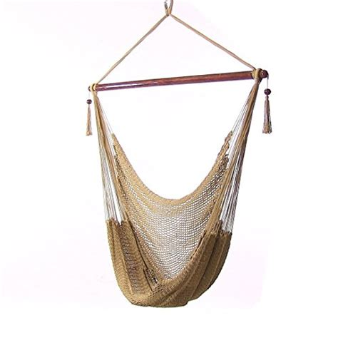caribbean rope hammock chair sunnydaze hanging caribbean large hammock chair