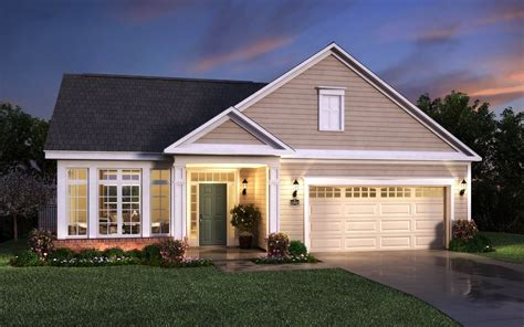 new ranch style homes courtyards at the preserves new homes in mcdonald pa by