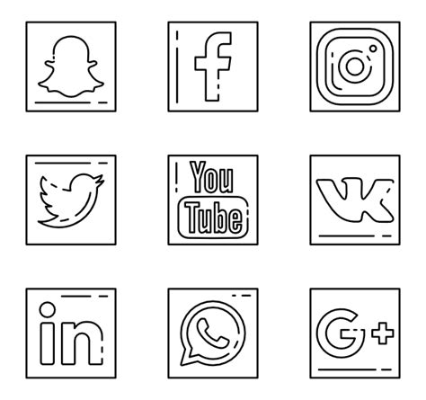 Media Outline by 3 Social Outline Icon Packs Vector Icon Packs Svg Psd Png Eps Icon Font Free Icons