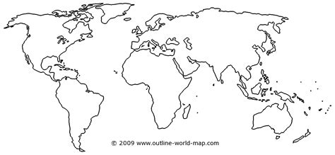 Outline Map Of The World To Print by Blank World Map With Continents