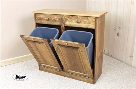 tilt out cabinet plans tilt trash can trash bin cabinet with drawers
