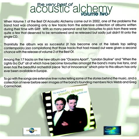 Cd Sugiarto 14 Best Of The Best Vol2 the best of vol 2 acoustic alchemy mp3 buy