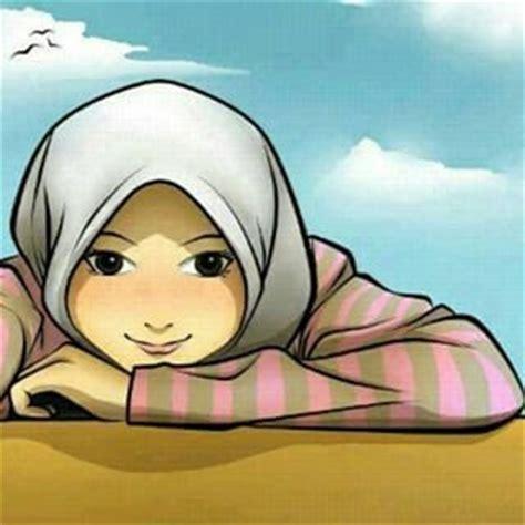 7 gambar kartun muslimah senyum lucu gambar animasi gif swf dp bbm animasi bergerak