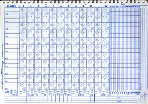 Printable Softball Scorebook