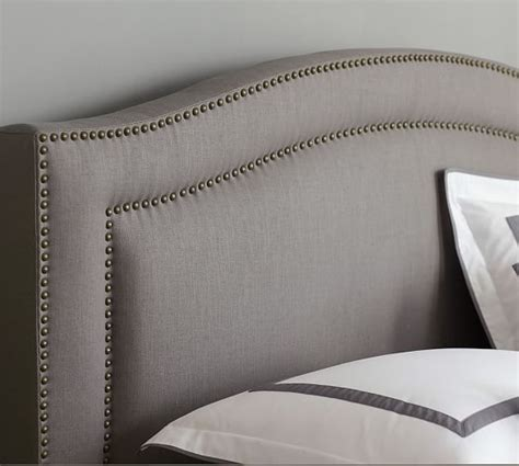 how to upholster a curved headboard tamsen curved upholstered bed headboard dallas decor