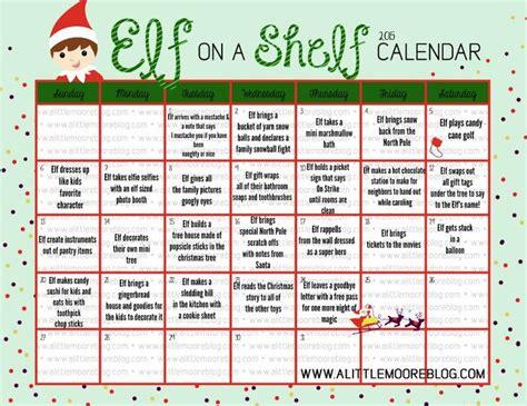 printable elf on the shelf calendar 2017 2015 elf on the shelf calendar christmas 2015 tree