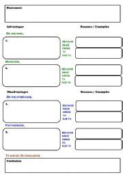 pros and cons worksheet template teaching worksheets other writing worksheets
