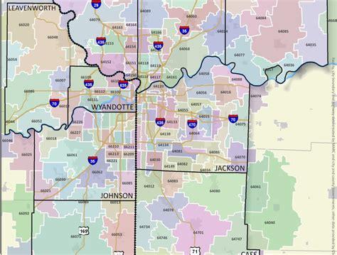 kansas city zip code map zip code map kansas city kansas map