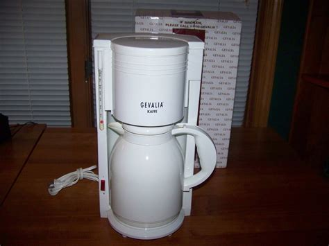 8 Cup GEVALIA Thermal Carafe Automatic Coffee Maker Model KA 865MW White in Box   Coffee Makers
