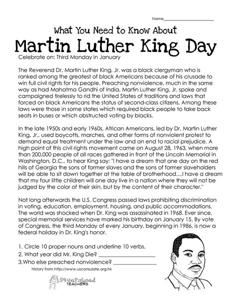 martin luther king printable activity sheets free martin luther king worksheets kindergarten