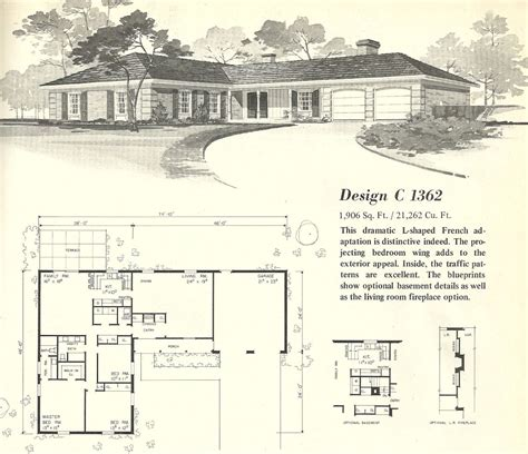 Mid Century Ranch House Plans by Vintage House Plans 1960s Homes Mid Century Homes