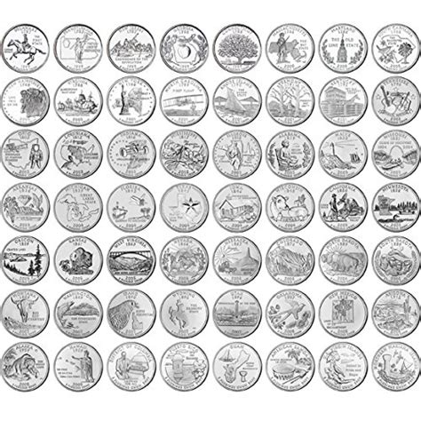 printable state quarter list 1999 2009 state quarters and 2010 2015 national park