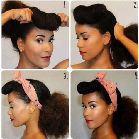 how to pin up natural hair 72 best naturally curly and vintage pinup hairstyles