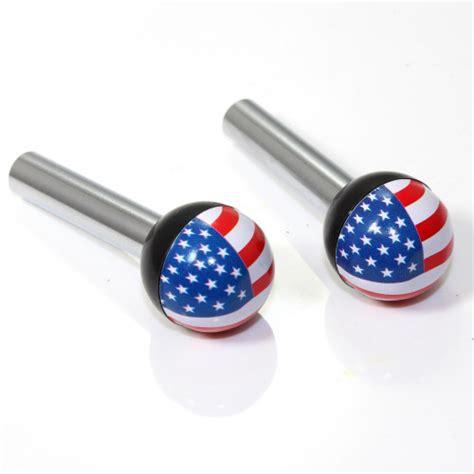 2 american flag usa interior door lock knobs pins for
