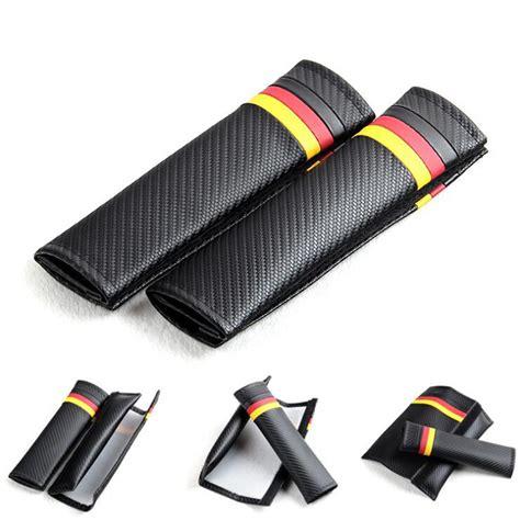 car seat shoulder covers car seat belts covers padding german flag carbon fiber