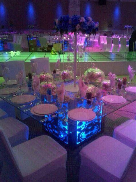 pcslot led disk light lights  cocktail tables