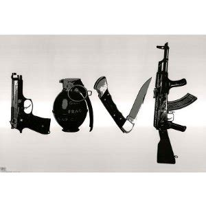 tattoo gun love steez urban art love gun knife hip hop x poster st4702