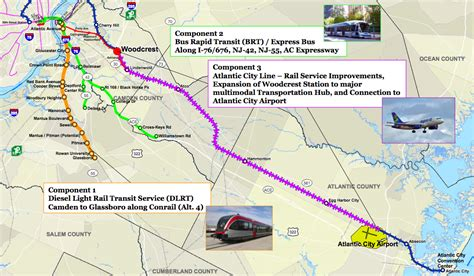Jersey City Light Rail Map Drpa Announces Significant South Jersey Transit Proposals
