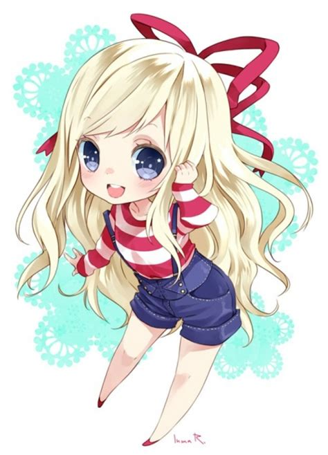cute anime chibi girl with red hair seraphita14 mangaka