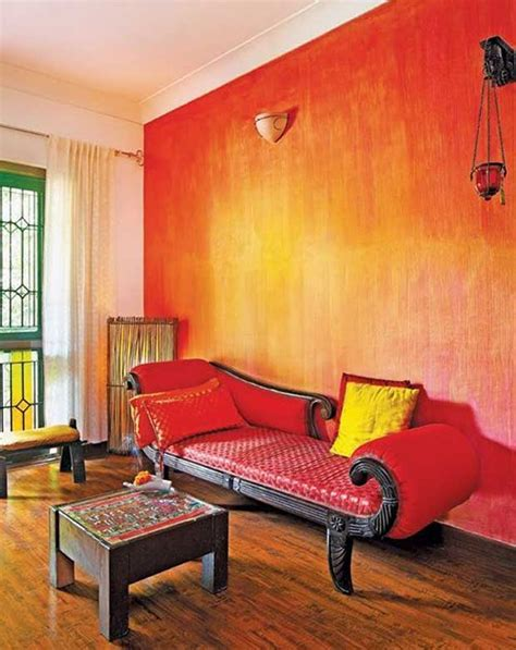 interior design red walls gorgeous decorative red paint wall finish for indian