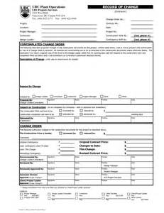 contractor change order form template best photos of change order templates for contractors