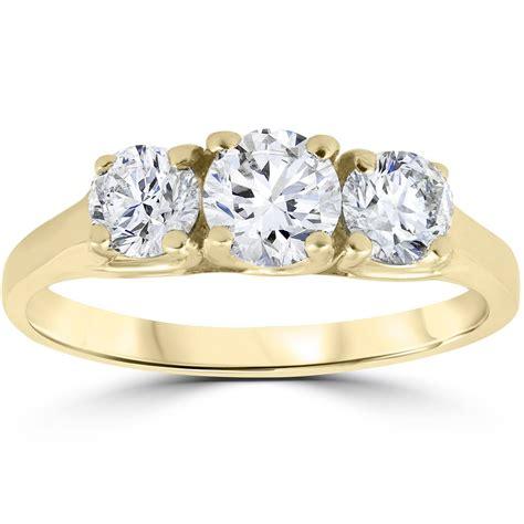 ct  stone diamond engagement womens anniversary ring  yellow