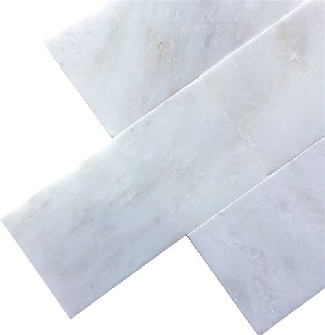 arabescato carrara 3x6 polished marble subway tile modern tile by all marble tiles