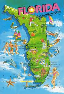 florida attractions map the world in our mailbox florida map card