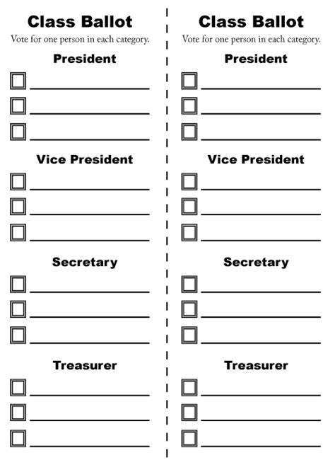 ballot word template classroom ballot dakota studies