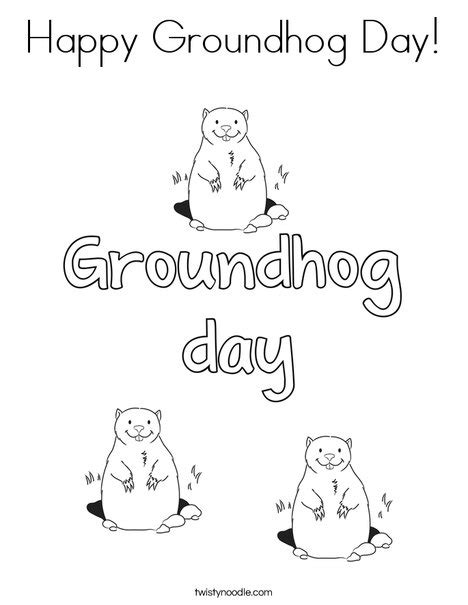 groundhog day number of days happy groundhog day coloring page twisty noodle