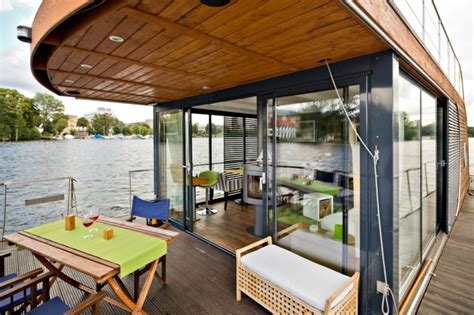 house boat cost sail away from it all in the gorgeous nautlius houseboat inhabitat green design innovation